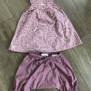 H&M Baby Sleeveless Blouse and Bloomers set